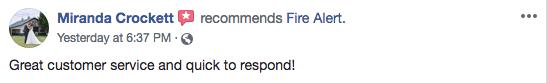 fire alert testimonial 3